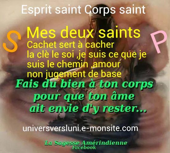 Esprit saint corps saint